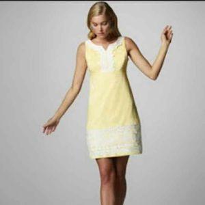 Yellow Lily Pulitzer dress.